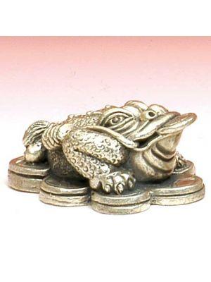 White Metal Figurine Lucky Frog