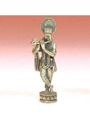 White Metal Figurine Krishna