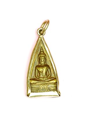 Small Antique Brass Buddha  Pendant