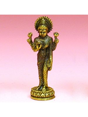 Small Antique Brass Figurine of Laxmi
