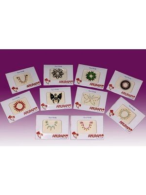 Jeweled Belly Button Decoration Stickers Set/10