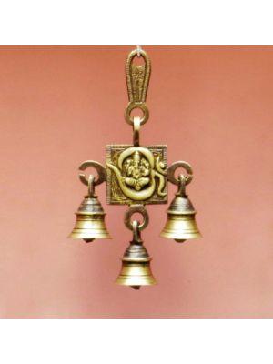 Brass Bell Om/Ganesha Antique 7