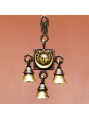Brass Door Bell Sun & Moon 7