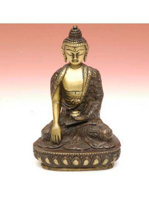 Brass Antique Buddha Fine 5.5