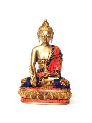 Brass Buddha with Stone Work 8