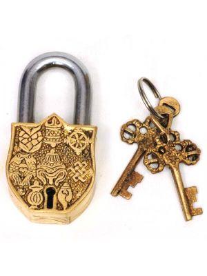 Brass Lock with Keys Ashtamangala 3.5