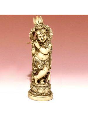 White Figure Krishna Stand.8