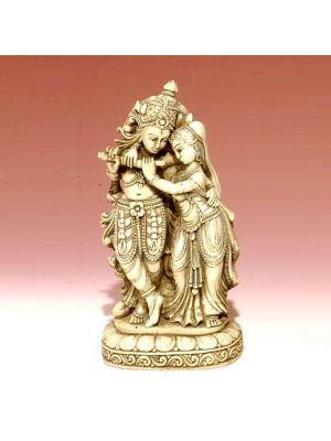 White Figure Radha Krishna 7.5