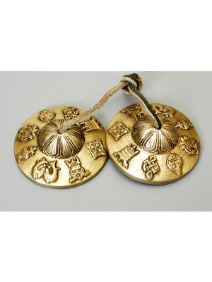 Brass Cymbals Ashtamangala Large