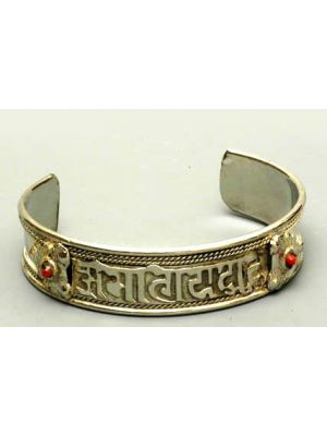 Bracelet White Metal Buddhist