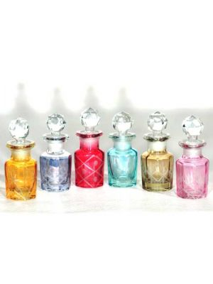 Hand Cut Glass De-Canters 25ml Set/6