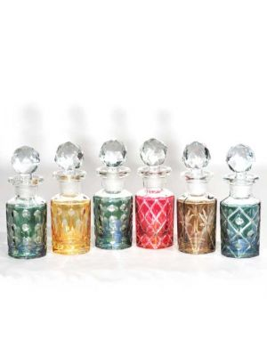 Hand Cut Glass De-Canters  50ml Set/6