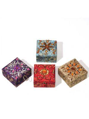 Embellished Ring Boxes Set/4 3