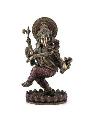 Cold Cast Bronze Dancing Ganesha 8