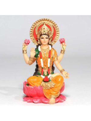 Hand Painted Laxmi Figurine 4