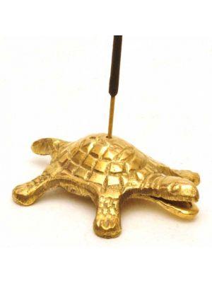 Turtle Brass Incense Burner 2.75