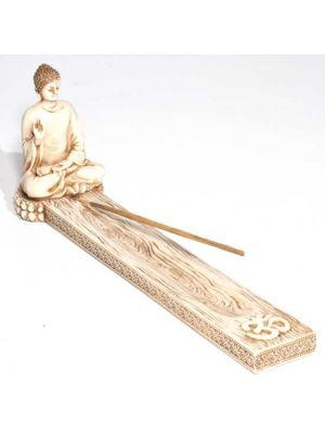 Blessing Buddha Incense Ash Catcher in Antique Ivory