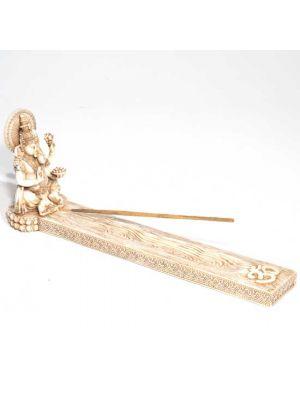 Ganesha Incense Ash Catcher in Antique Ivory