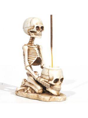 Skeleton & Skull Incense Burner