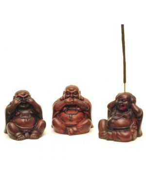 3 Buddha Resin Incense Burners