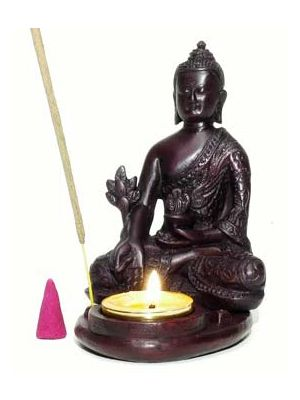 Buddha Resin Incense Stick, Cone and Candle Burner