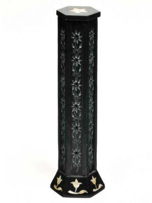 Floral Stone Incense Burner Tower