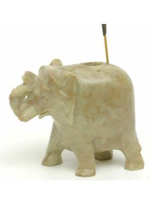 Large Elephant Incense Stick and Cone Burner in Stone.