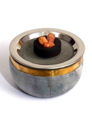 Gray Stone Charcoal or Cone Burner