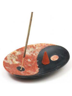 Soapstone Yin Yang Incense Burner & Soap Dish