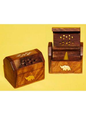 Incense Burner Wood.Box For Cones 3