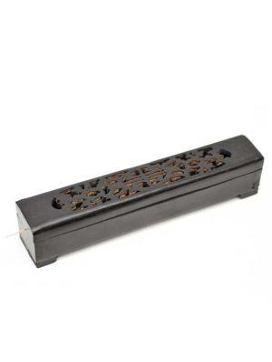 Black Wood Incense Burner Box