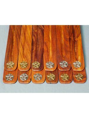 Wooden Incense Burners - Pentagram Symbols Set/12