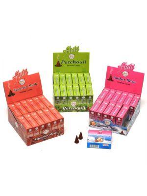 Flute Incense Cones 12 boxes/10 cones (12 scents)