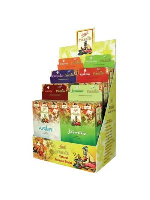 Flute Brand Masala Incense Display - 6 boxes of 12