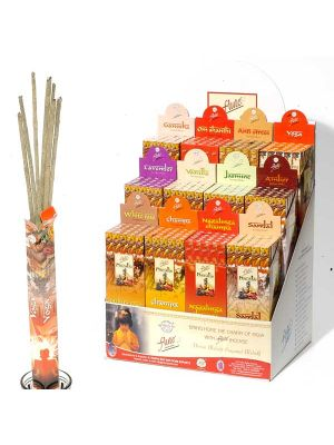 Flute Brand Masala Incense Display - 12 Boxes of 25
