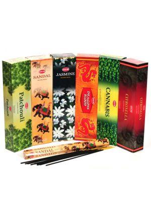 HEM Tall Incense 10 stick, Box/6 (6 scents)