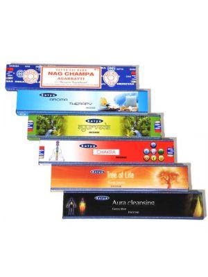 Satya Ayurveda Series Incense 15g Box/12 (6 scents)