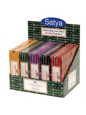 Satya Nag Champa Display - 60 boxes of 100g