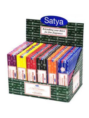 Satya Nag Champa Display - 72 boxes of 40g