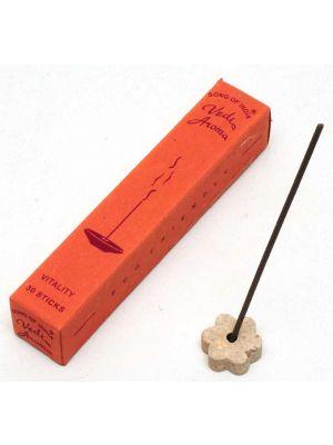 Vedic Aroma Incense - 30 Sticks and Burner (7 scents)