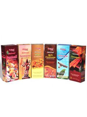 Wellness Natural Incense 20 Sticks Hexa Box/6 - New Fragrances! (36 scents)