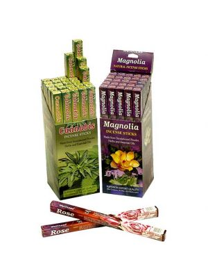 Wellness Natural Incense 8 Sticks Square Pack (6 scents)