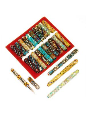 Jewel Pens With Cap Set/10