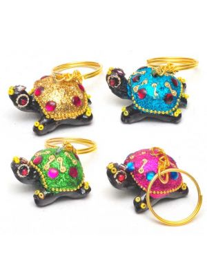 Beaded Turtle Key Chains Set/4