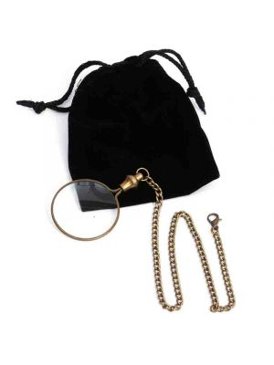 Magnifying Brass Chain/Pouch 1.5