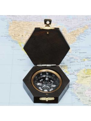 Wood Handheld Compass