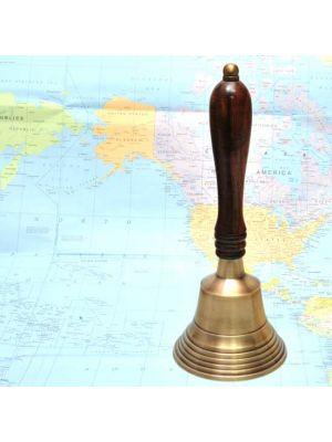 Brass Nautical Hand Bell 9.5