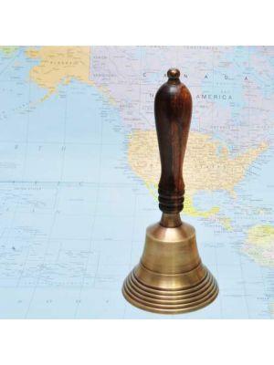 Brass Nautical Hand Bell 7.25