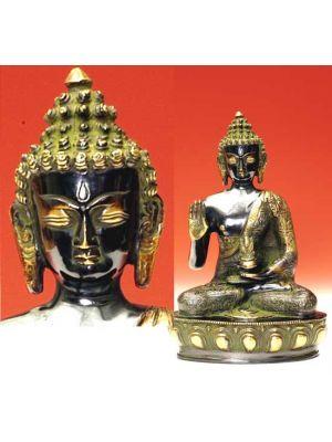Oxidized Brass Amoghsiddhi Buddha 12