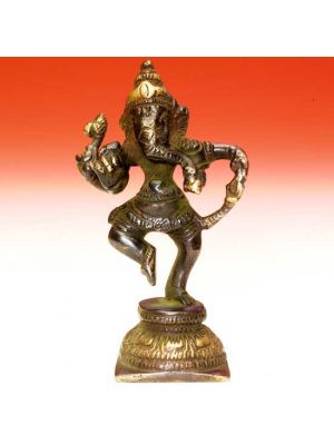 Oxidized Brass Ganesh Dancing    4